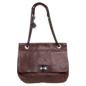 Lanvin Brown Leather Happy Shoulder Bag