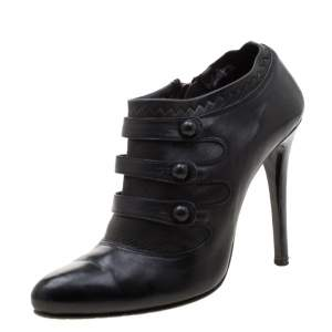 Le Silla Black Leather Booties Size 39