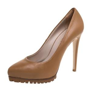 Le Silla Beige Leather Pumps Size 36
