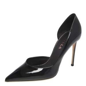 Le Silla Black Patent Leather Eva Pumps Size 37