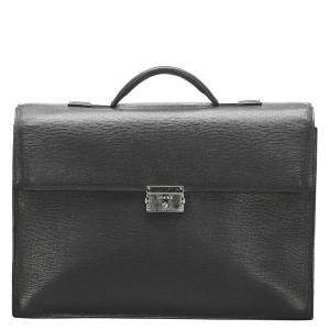 Loewe Black Leather Business Bag