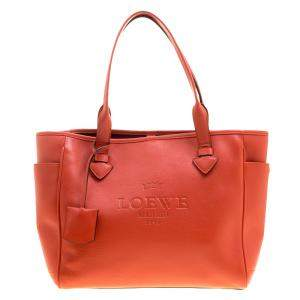 Loewe Red Leather Tote