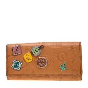 Loewe Tan Signature Leather Continental Wallet
