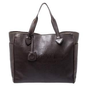 حقيبة يد لويفي شوبر هيرتاج جلد بنية داكنة
