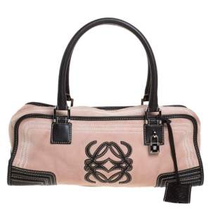 Loewe Pink/Brown Leather Amazona Bag