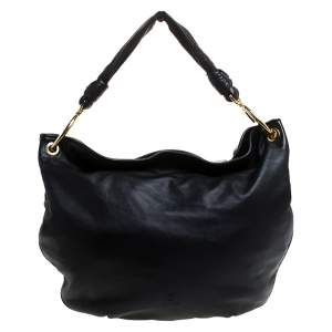 Loewe Black Leather Knot Hobo