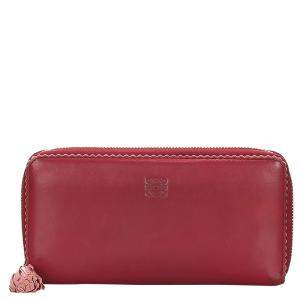 Loewe Red Leather Amazona Long Wallet
