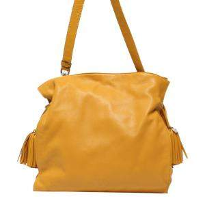 Loewe Yellow Leather Flamenco Knot Bag