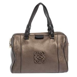 Loewe Brown Leather Fusta 31 Satchel