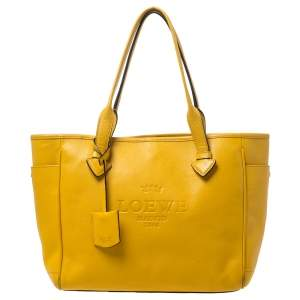 Loewe Yellow Leather Shopper Tote