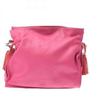Loewe Pink Leather Flamenco 30 Bag