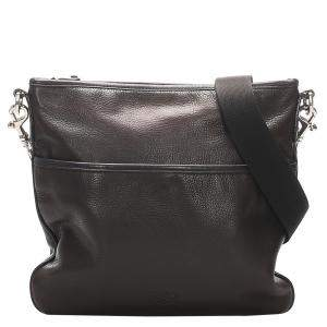 Loewe Black Leather   Messenger Bag
