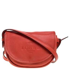Loewe Coral Leather Heritage Crossbody Bag