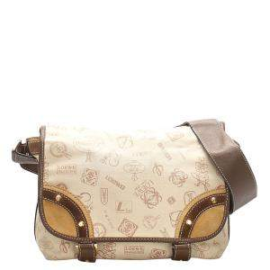 Loewe Brown Coated Canvas 160th Anniversary Crossbody Bag