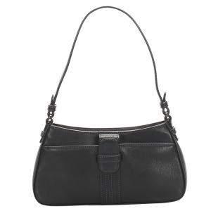 Loewe Black Leather Anagram Shoulder Bag