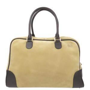Loewe Beige Leather  Amazona 24H Satchels