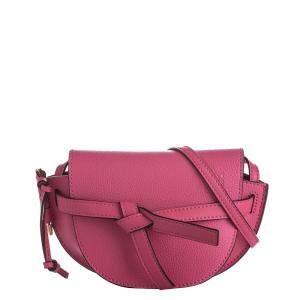 Loewe Pink Leather Gate Mini Crossbody Bag