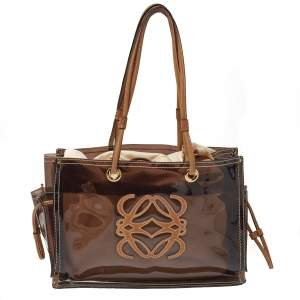 Loewe Brown PVC and Leather Amazona Tote