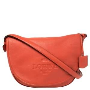 حقيبة كروس لويفي جلد برتقالي بقلاب