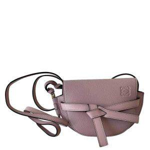 Loewe Pink Calfskin Leather Gate Small bag