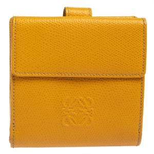 Loewe Yellow Leather French Wallet
