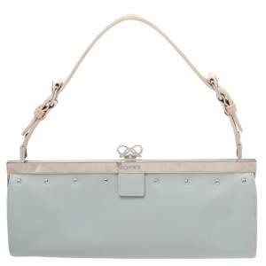 Loewe Blue Leather Baguette Bag