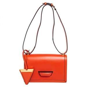 Loewe Orange Leather Barcelona Crossbody Bag