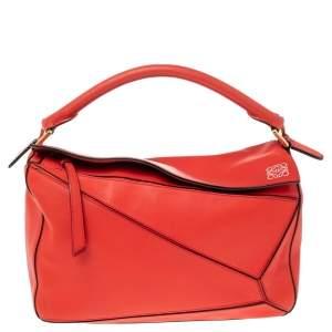 Loewe Scarlet Leather Puzzle Top Handle Bag