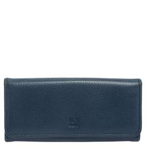 Loewe Blue Leather Continental Wallet