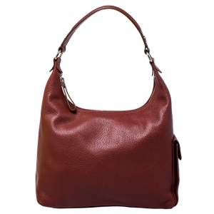 Longchamp Copper Leather Side Pocket Hobo