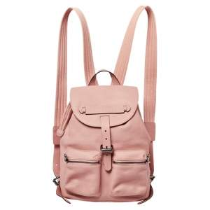Longchamp Pink Leather Small 3D Backpack