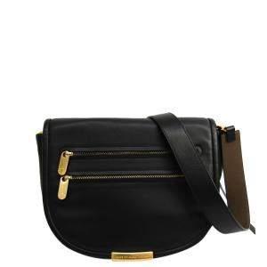 Marc By Marc Jacobs Black Leather Luna Messenger Bag