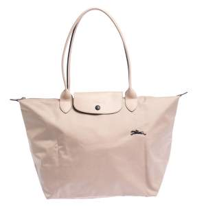 Longchamp Pink Nylon and Leather Le Pliage Tote