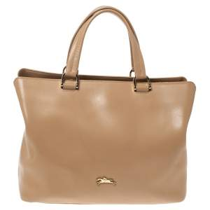 Longchamp Beige Leather Totem Tote