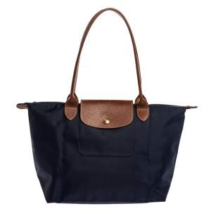 Longchamp Navy Blue Nylon Small Le Pliage Tote