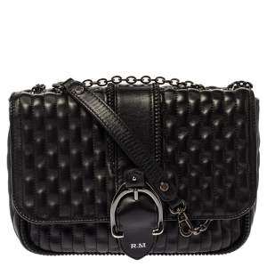 Longchamp Black Leather Amazone Shoulder Bag