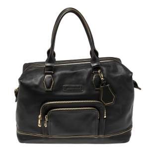 Longchamp Black Leather Legend Tote