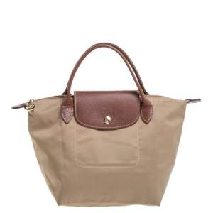 Longchamp Beige Nylon Mini Le Pliage Tote