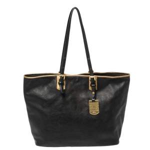 Longchamp Black Leather Tote