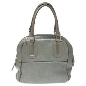 Longchamp Grey Leather Cosmos Satchel