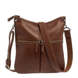 Longchamp Brown Leather Le Foulonne Crossbody Bag