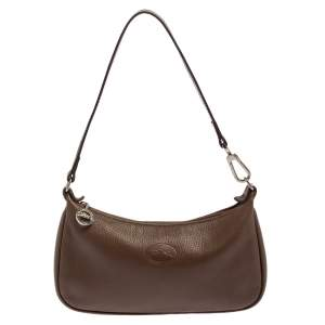Longchamp Brown Leather Shoulder Bag