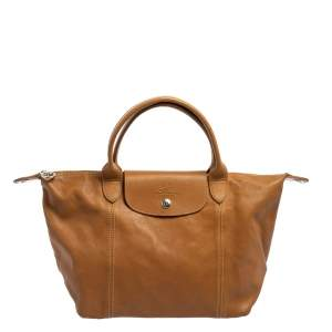 Longchamp Brown Leather Le Pliage Cuir Tote