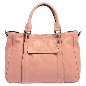Longchamp Pink Leather 3D Tote