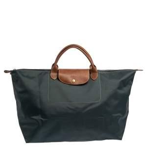Longchamp Blue Nylon Large Le Pliage Travel Bag