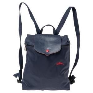 حقيبة ظهر لونج شامب لو بيلاج نايلون أزرق كحلي