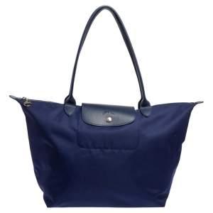 Longchamp Blue Nylon Le Pliage Tote