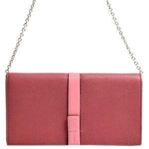 Loewe Pink Leather Wallet on Chain Bag