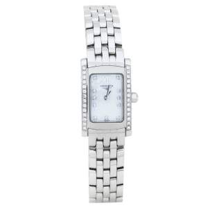 Longines Mother Of Pearl Stainless Steel Diamond Dolce VIta L5.158.0.84.6 Women's Wristwatch 16 mm