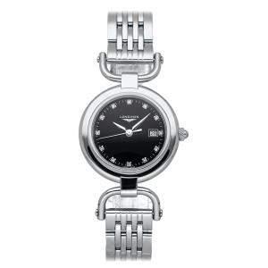 Longines Black Stainless Steel Equestrian L6.131.4.57.6 Women's Wristwatch 30 MM